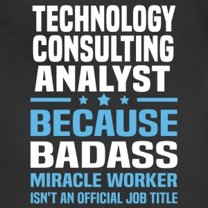 Technology Consulting Analyst T-Shirts - Adjustable Apron