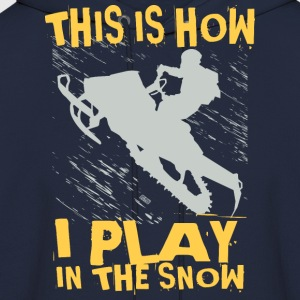 Snowmobile Snow Play T-Shirts - Men's Hoodie