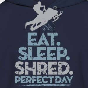 Snowmobile Eat Sleep T-Shirts - Men's Hoodie