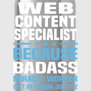 Web Content Specialist T-Shirts - Water Bottle