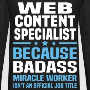 Web Content Specialist T-Shirts - Men's Premium Long Sleeve T-Shirt