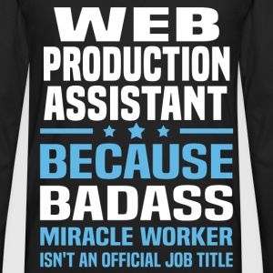 Web Production Assistant T-Shirts - Men's Premium Long Sleeve T-Shirt