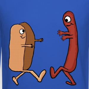 Hot Dog Bun and wiener couple shirt - Crewneck Sweatshirt