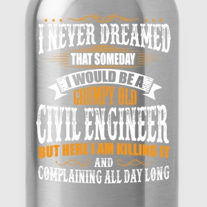 Civil Engineer Grumpy Old T-Shirt T-Shirts - Water Bottle