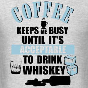 Coffee - drink Whiskey Long Sleeve Shirts - Men's T-Shirt