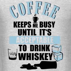 Coffee - drink Whiskey Tanks - Men's T-Shirt