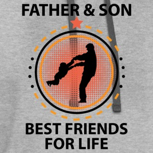 Father And Son Best Friends For Life T-Shirts - Contrast Hoodie