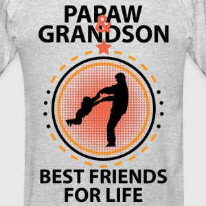Papaw And Grandson Best Friends For Life Hoodies - Men's T-Shirt