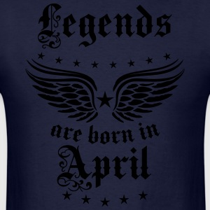 Legends are born in April birthday Vintage Hoodie - Men's T-Shirt