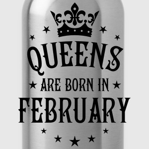 Queens are born in February birthday Crown Shirt - Water Bottle