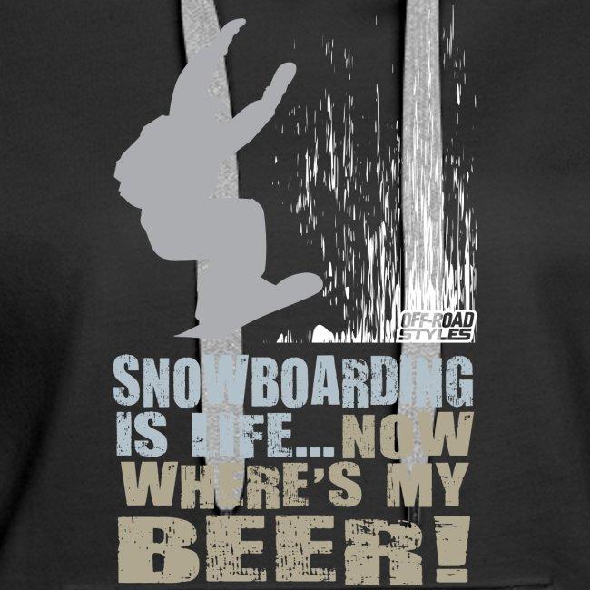 Snowboarder Beer