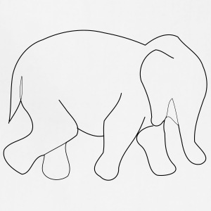 elephant outline - Adjustable Apron