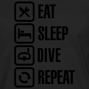 Eat Sleep Dive Repeat T-Shirts - Men's Premium Long Sleeve T-Shirt