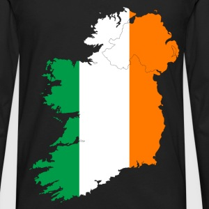 Ireland Flag Map - Men's Premium Long Sleeve T-Shirt