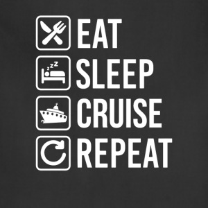 Cruise Liner Eat Sleep Repeat T-Shirt T-Shirts - Adjustable Apron