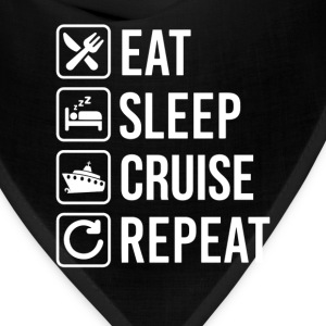 Cruise Liner Eat Sleep Repeat T-Shirt T-Shirts - Bandana