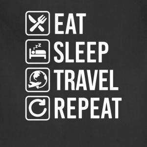 Travel Eat Sleep Repeat T-Shirt T-Shirts - Adjustable Apron