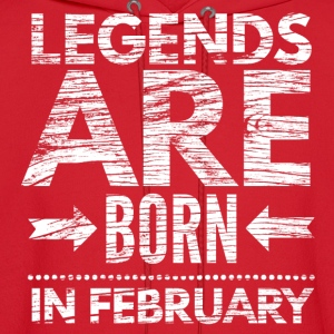 birthday shirt designs legends born in february  Kids' Shirts - Men's Hoodie