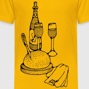 wine and bread - Toddler Premium T-Shirt