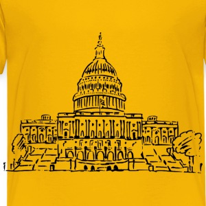 US Capitol Building Drawing - Toddler Premium T-Shirt