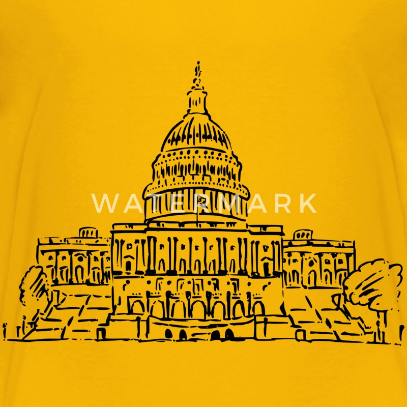 US Capitol Building Drawing - Kids' Premium T-Shirt