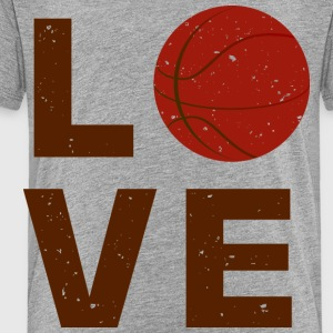 love basket ball typography - Toddler Premium T-Shirt