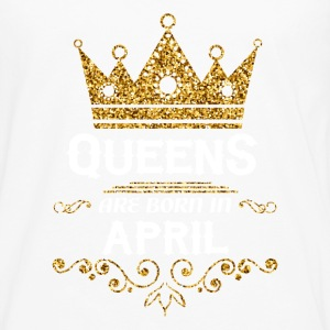queens are born in april T-Shirts - Men's Premium Long Sleeve T-Shirt