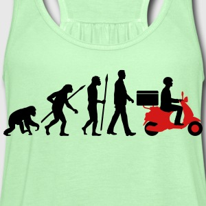evolution_scooter_pizza_supplier_072016c T-Shirts - Women's Flowy Tank Top by Bella