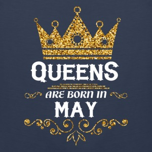 queens are born in may Kids' Shirts - Men's Premium Tank
