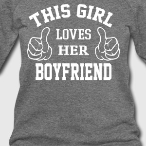 This Girl Loves Her Boyfriend - Women's Wideneck Sweatshirt