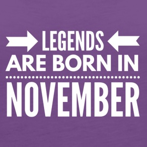 Legends Born November - Women's Premium Tank Top