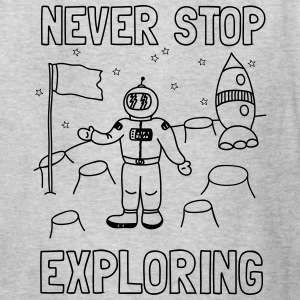 Never stop exploring (outer space) Kids' Shirts - Kids' T-Shirt