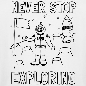 Never stop exploring (outer space) Kids' Shirts - Men's Tall T-Shirt