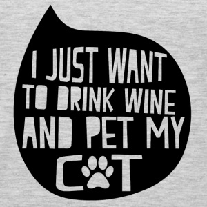 Drink Wine and Pet My Cat T-Shirts - Men's Premium Long Sleeve T-Shirt