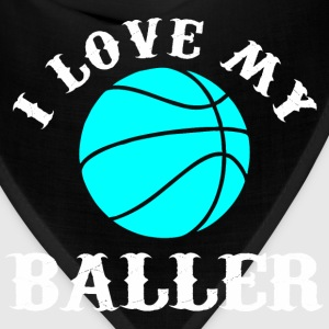 I love my baller T-Shirts - Bandana