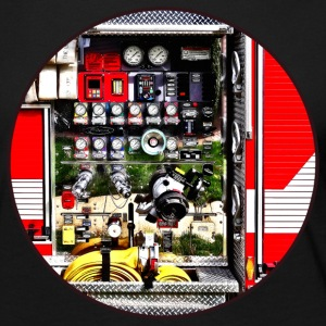Dials and Hoses on Fire Truck Long Sleeve Shirts - Women's Premium Long Sleeve T-Shirt