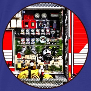 Dials and Hoses on Fire Truck Bags & backpacks - Men's Premium T-Shirt
