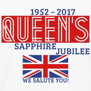 Queen's Sapphire Jubilee T-Shirts - Men's Premium Long Sleeve T-Shirt