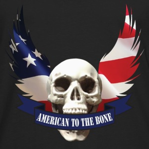 American to the Bone-01 T-Shirts - Men's Premium Long Sleeve T-Shirt