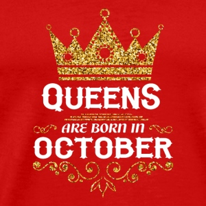 queens are born in october Caps - Men's Premium T-Shirt