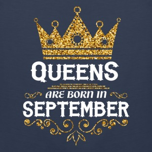 queens are born in september Kids' Shirts - Men's Premium Tank