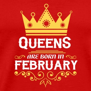 queens are born in february Caps - Men's Premium T-Shirt