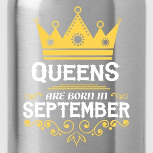 queens are born in september T-Shirts - Water Bottle