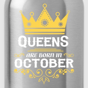 queens are born in october T-Shirts - Water Bottle