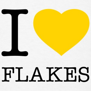 I LOVE FLAKES - Men's T-Shirt