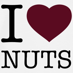I LOVE NUTS - Men's Premium T-Shirt