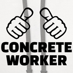 Concrete worker Aprons - Contrast Hoodie