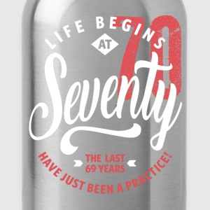Life Begins at 70 | 70th Birthday - Water Bottle