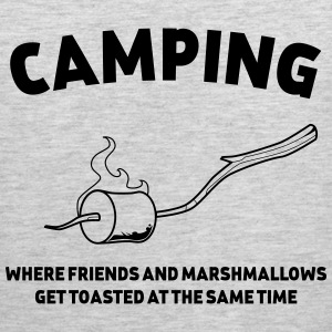 Camping where friends get toasted T-Shirts - Men's Premium Tank