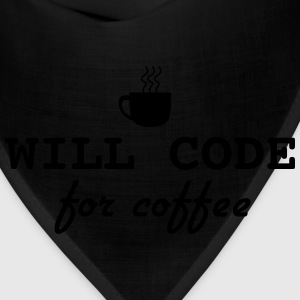 Will code for coffee T-Shirts - Bandana
